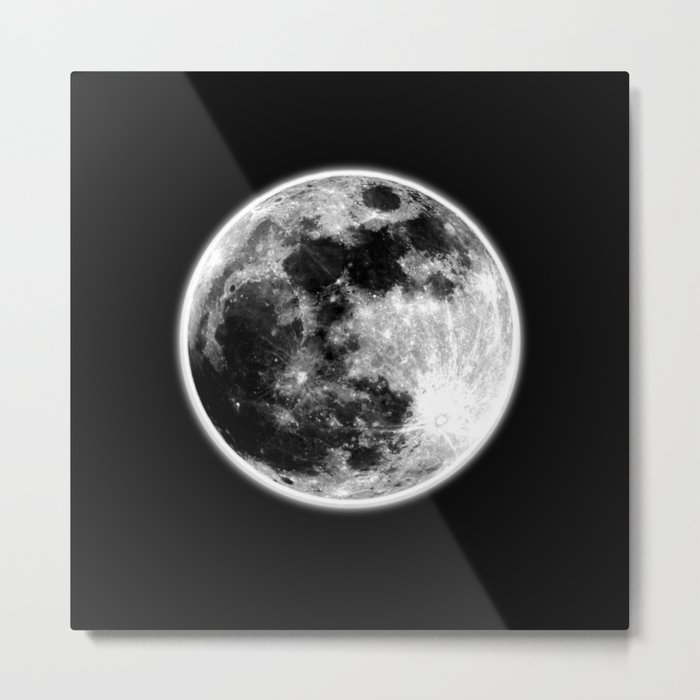 Moon Illuminated Metal Print
