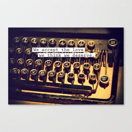 Perks OF a typewritter Canvas Print