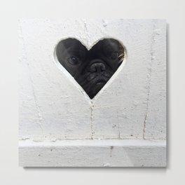 Peeking into your heart Metal Print
