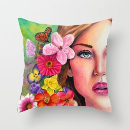'A New Day' - Watercolour Painting Throw Pillow