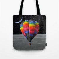 balloon Tote Bags featuring Balloon by Cs025