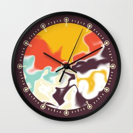 Liquid shapes 5 Wall Clock