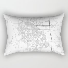 Minimal City Maps - Map Of Fort Collins, Colorado, United States Rectangular Pillow