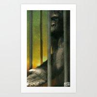 gorillaz Art Prints featuring GoRiLLaZ by Francesca D'Ottavi ArtPrints-Store