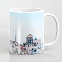 Santorini Greece Ligh Blue Sky Coffee Mug