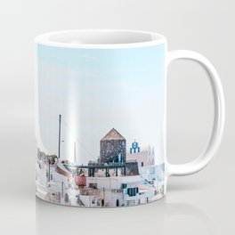 Santorini Greece Ligh Blue Sky Coffee Mug