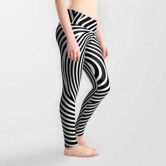 Black and White Dizzy Leggings