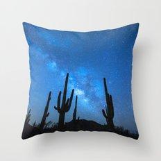 Cacti Milky Way Throw Pillow