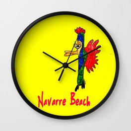 Navarre Beach Fish Wall Clock