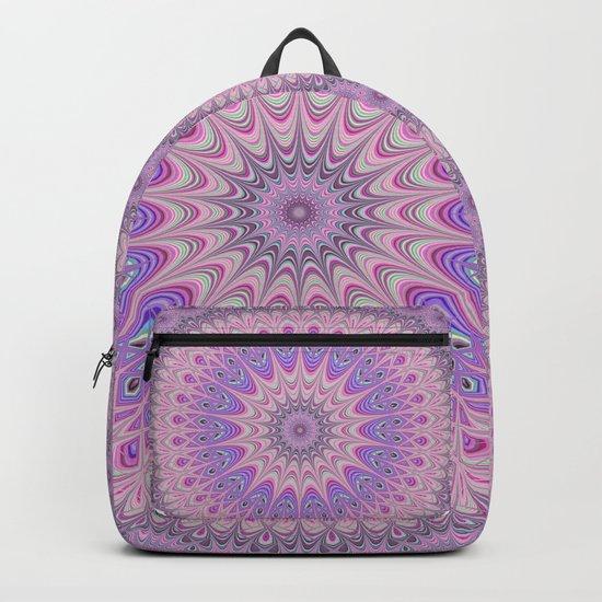 Beautiful detailed Mandala pink purple #mandala Backpack