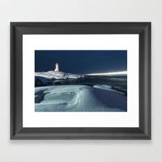 Painted in Snow Framed Art Print