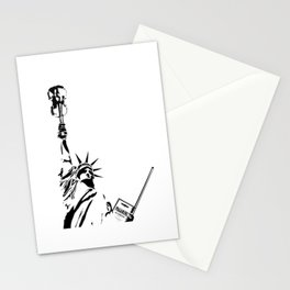 Violin Statue Stationery Cards