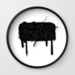 A black table Wall Clock