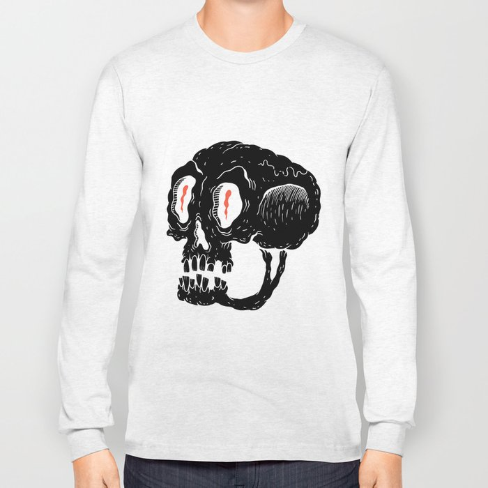 Milquetoast Skull Long Sleeve T-shirt