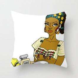 Fulani Girl Throw Pillow