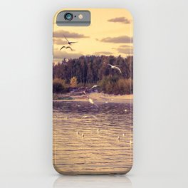 Flying around iPhone Case