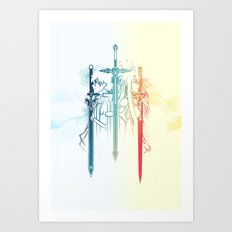 Sword Art Duo Art Print
