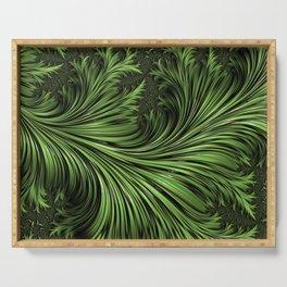 Fractal Art: Variegated Leaf Serving Tray