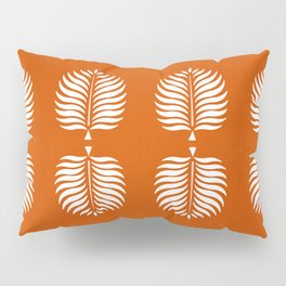 TROPICAL PALMS . ORANGE + WHITE Pillow Sham