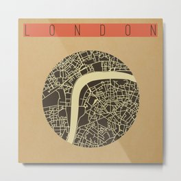 London Map Vector Metal Print