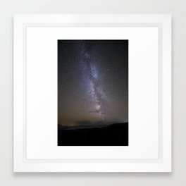 The Milky Way Over Applecross and Skye Framed Art Print