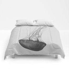 Black & White Jellyfish Comforters