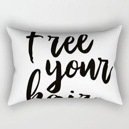 Free Your Hair Rectangular Pillow