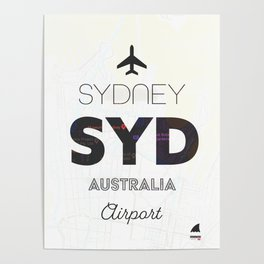 Sydney airport minimal Poster