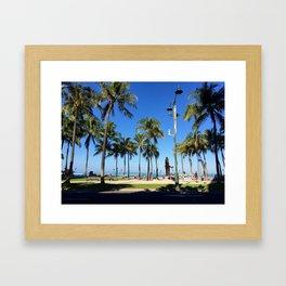 Tourist Palms Framed Art Print