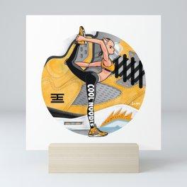 "Yoga girl Cool Noodle and ""Tokyo"" Mini Art Print"