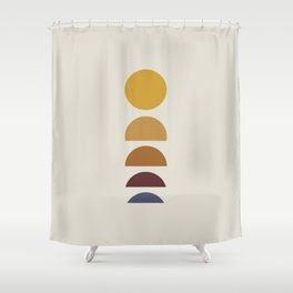 Minimal Sunrise / Sunset Shower Curtain