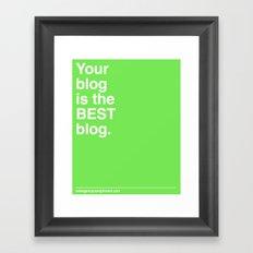 Best Blog Framed Art Print