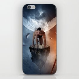 following the lights iPhone Skin