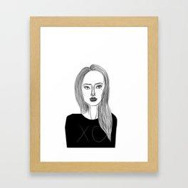 XO Girl Fashion Illustration Framed Art Print