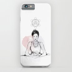 Making B, with ink and tea iPhone 6 Slim Case