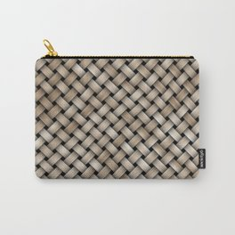 Wooden woven texture Carry-All Pouch