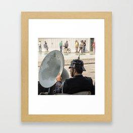 Soubassophone, brass Framed Art Print