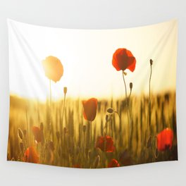 Poppies in the Sun Wall Tapestry