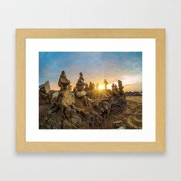 Sunset on the beach in Khao Lak Framed Art Print