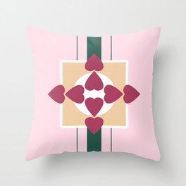 Strawberry Heart Shortcake Throw Pillow