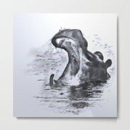 Animals and Art - Hippo Metal Print