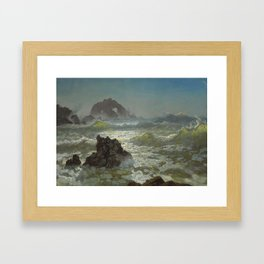 Albert Bierstadt - Seal Rock, California Framed Art Print