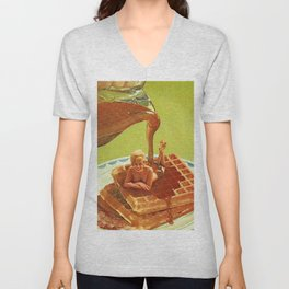 Pour some syrup on me - Breakfast Waffles Unisex V-Neck