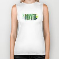 denver Biker Tanks featuring Denver by Tonya Doughty