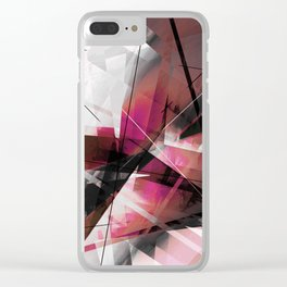 Echoes of Expansion - Geometric Abstract Art Clear iPhone Case