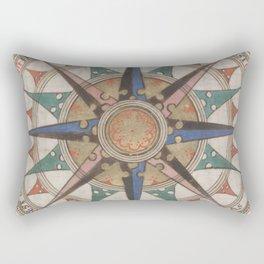 Historical Nautical Compass (1543) Rectangular Pillow