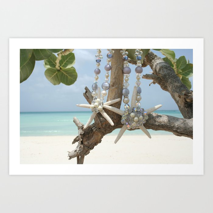 """Be A Star!"" Mother & Daughter in Aruba Art Print"
