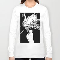 swan Long Sleeve T-shirts featuring Swan by Mariia Krugliakova