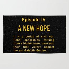 Episode IV Crawl Text Rug