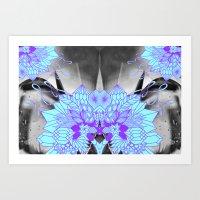 geode Art Prints featuring Geode 1 by michiko_design